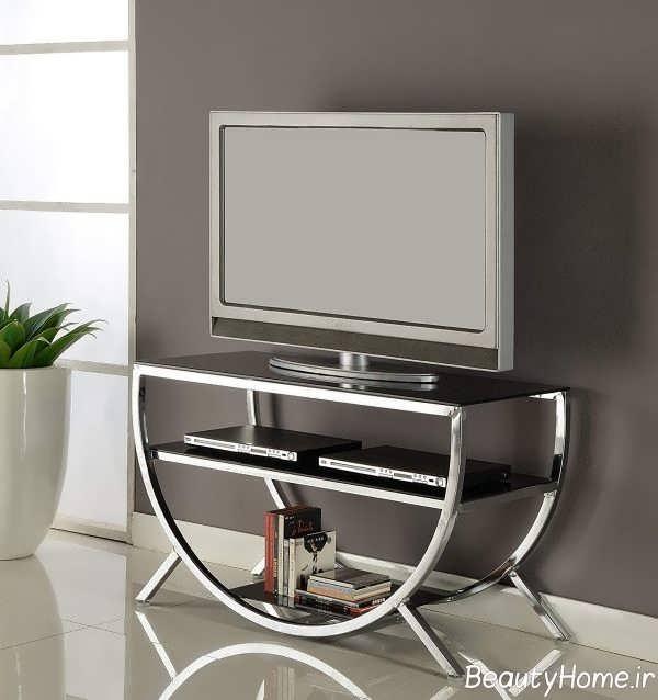 طرح نیم دایره ای میز تلویزیون