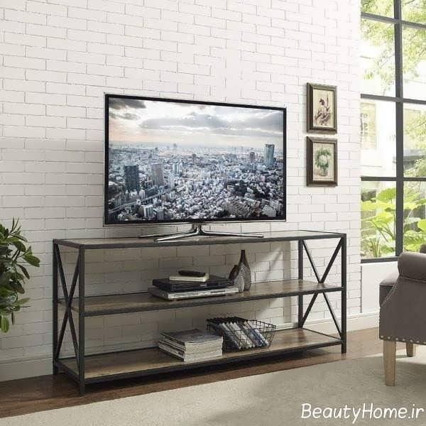 طراحی فلزی میز تلویزیون