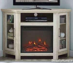 میز تلویزیون با طرح شومینه