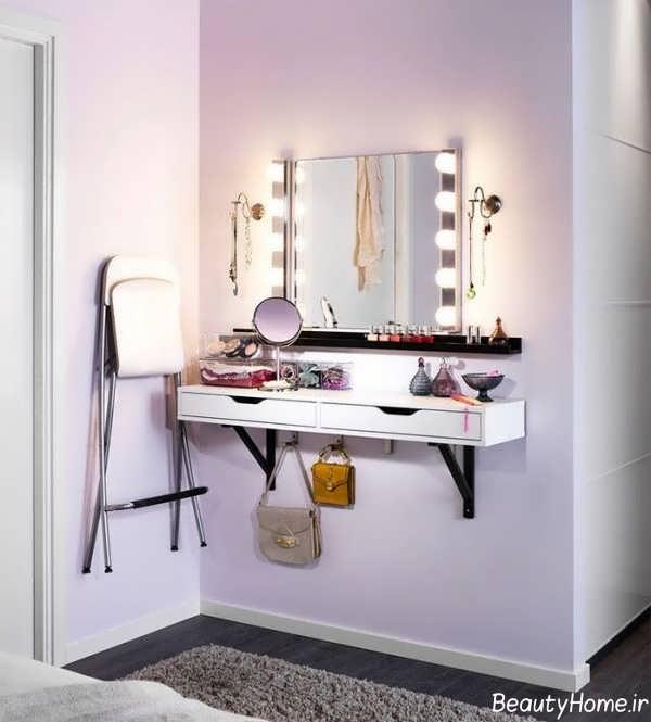 مدل میز آرایش دیواری با طرح های مدرن و کاربردی