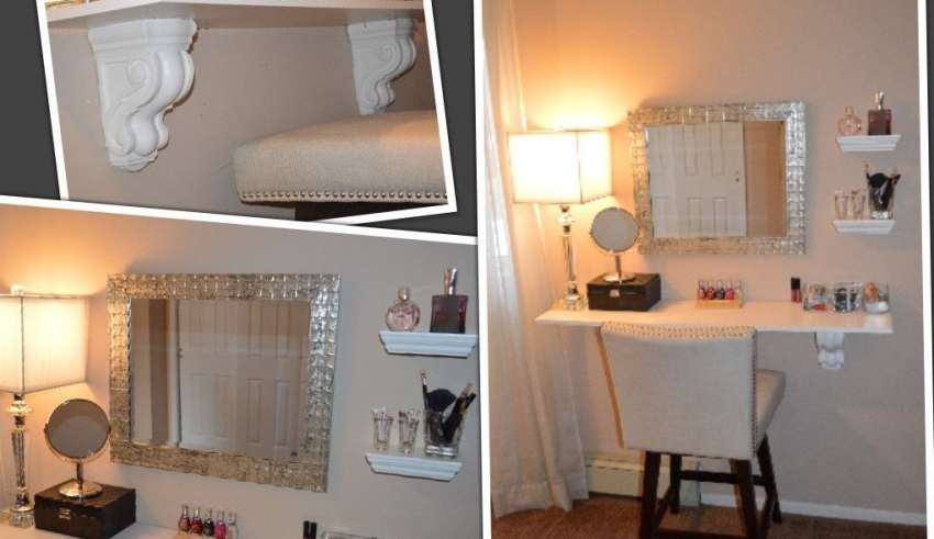 مدل میز آرایش دیواری