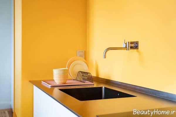 دکوراسیون زرد آشپزخانه