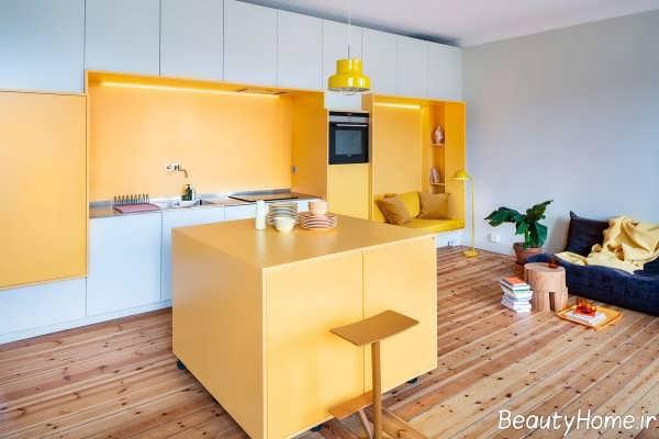 دکوراسیون زرد و سفید منزل