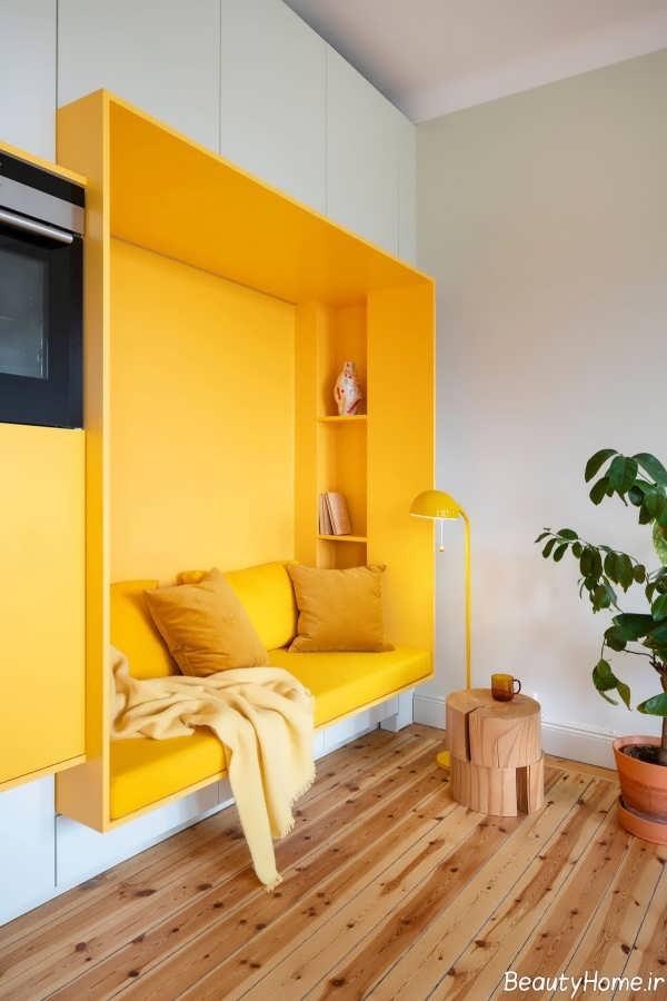 طراحی داخلی زرد