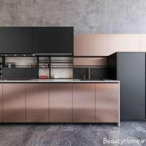طراحی زیبای آشپزخانه مسی