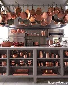 ست زیبای لوازم مسی آشپزخانه