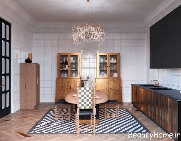 رنگ مسی در آشپزخانه کلاسیک
