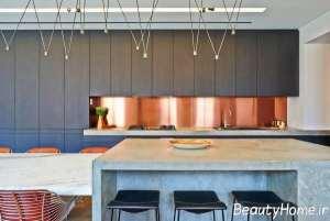 رنگ تند مسی در آشپزخانه
