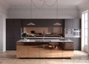 ست زیبای مسی در محیط آشپزخانه
