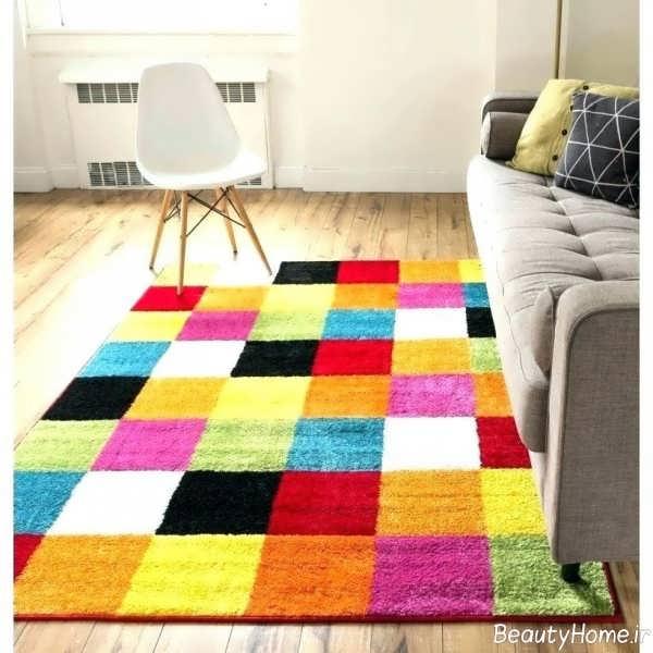فرش رنگی و شیک
