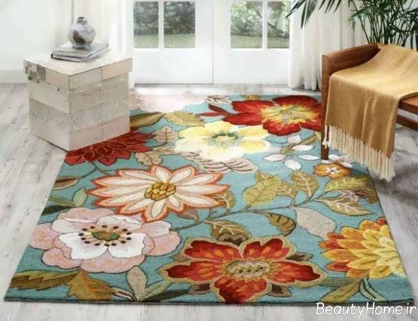 فرش گلدار و شیک