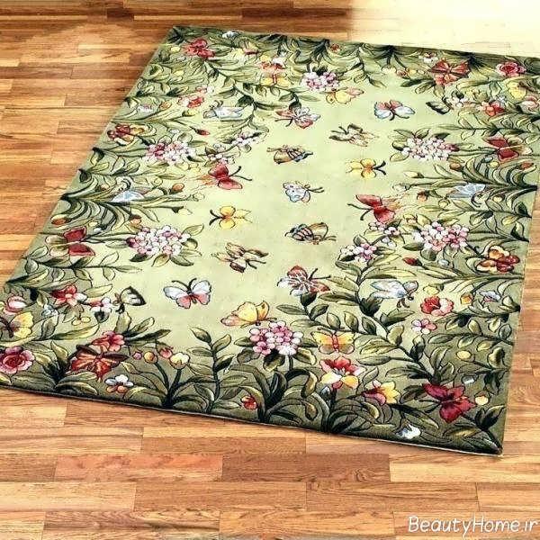 فرش طرح دار و رنگی