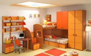 دکوراسیون نارنجی اتاق خواب پسرانه