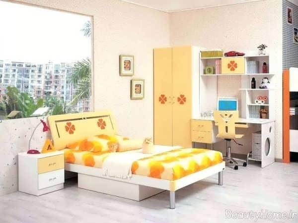 دکوراسیون رنگی اتاق خواب پسرانه