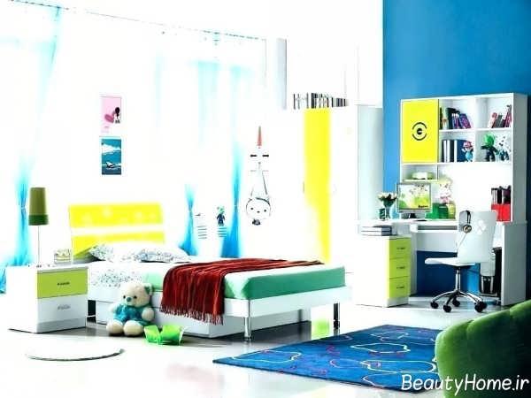 دکوراسیون داخلی مدرن اتاق خواب پسرانه