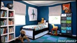 دکوراسیونی رنگی اتاق پسرانه