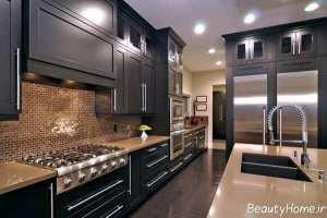 طراحی نورپردازی آشپزخانه عروس