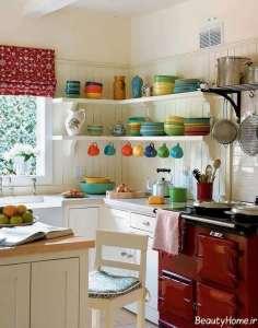 طراحی زیبا و کاربردی آشپزخانه عروس