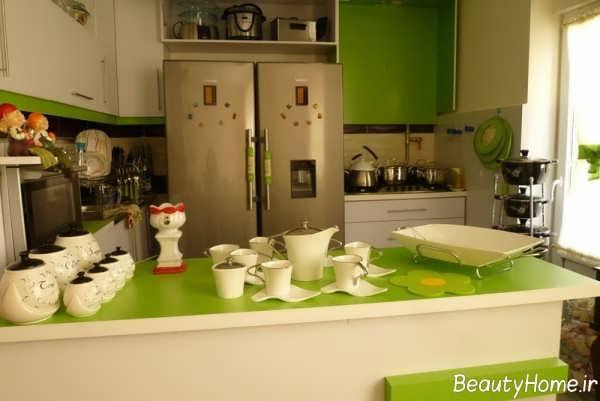 دکوراسیون زیبا و شیک آشپزخانه عروس