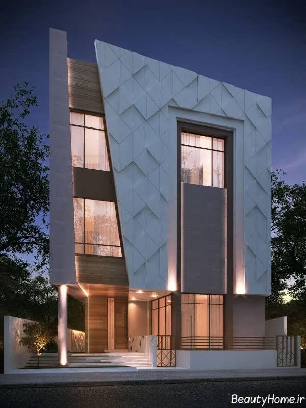نمای زیبا و مدرن ساختمان