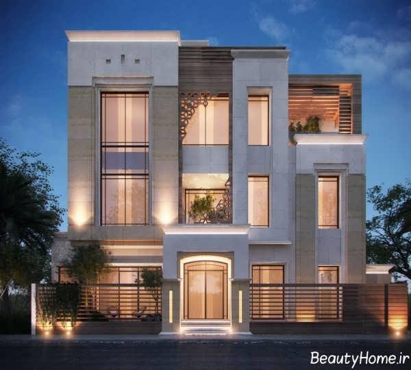 نمای شیک و مدرن ساختمان