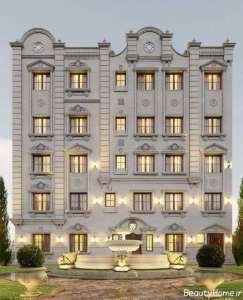 نمای ساختمان چند طبقه