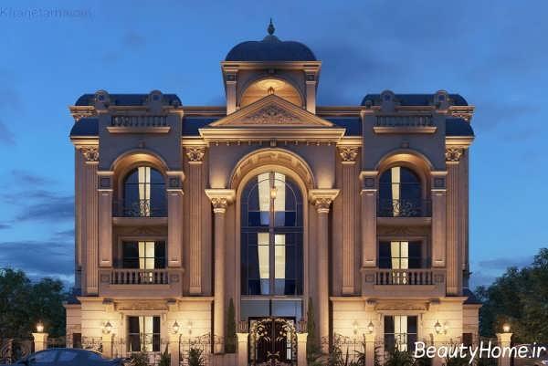 نمای زیبا و لوکس ساختمان