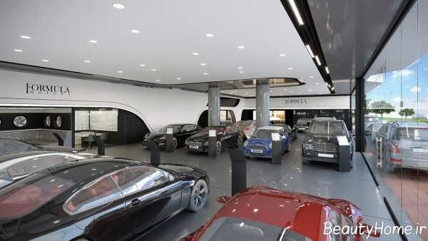 دیزاین داخلی نمایشگاه ماشین