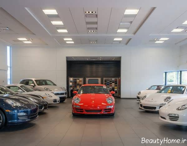 نورپردازی زیبا و مناسب نمایشگاه ماشین
