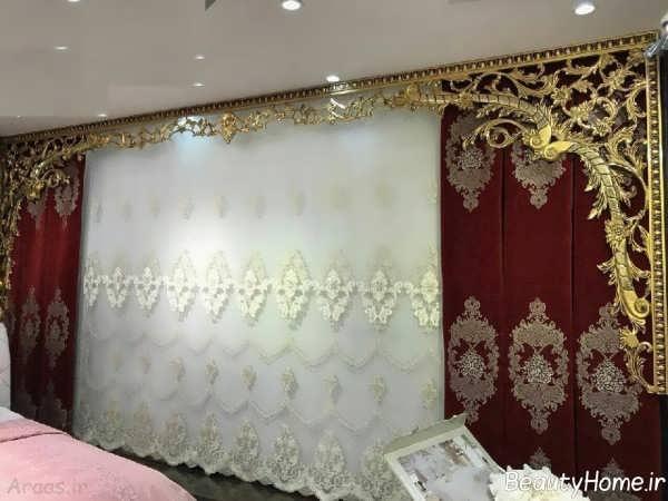 مدل پرده ایرانی جدید و زیبا برای سالن پذیرایی