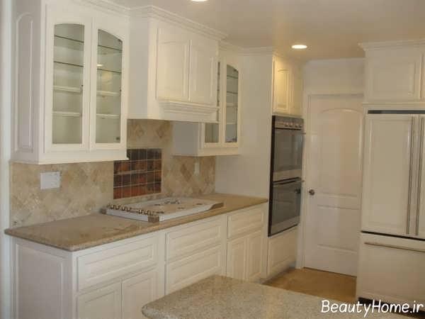 کابینت آشپزخانه سفید و شیک