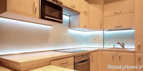 نورپردازی کابینت آشپزخانه