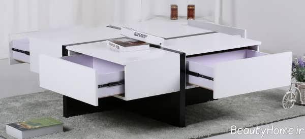 مدل میز سفید پذیرایی