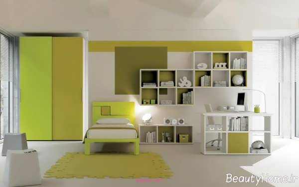 کمد دیواری دو رنگ
