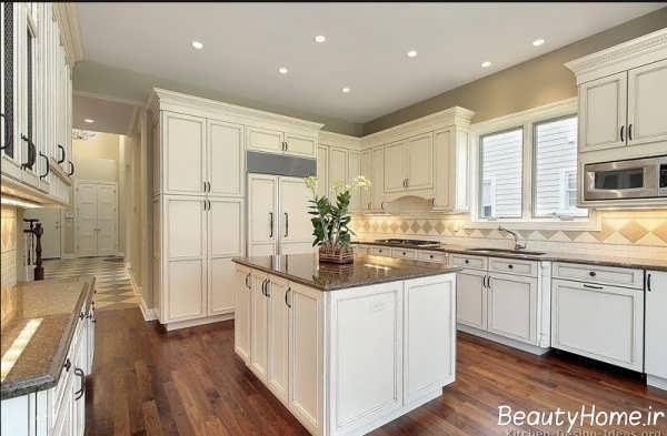 طرح کابینت سفید آشپزخانه