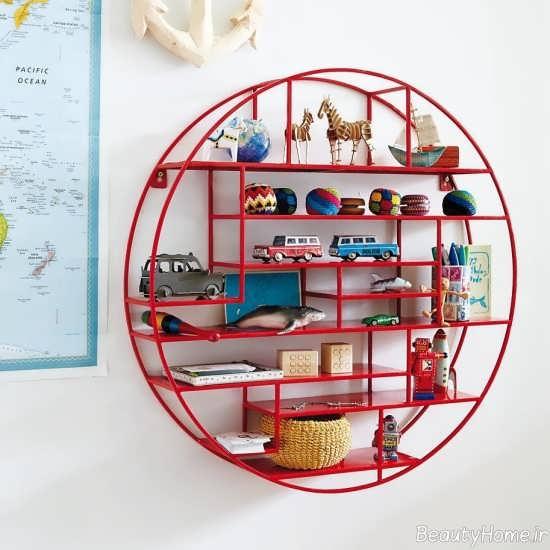 مدل شلف دیواری برای اتاق نوزاد