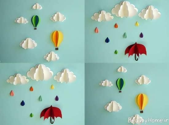 تزیین دیوار اتاق نوزاد برای سیسمونی