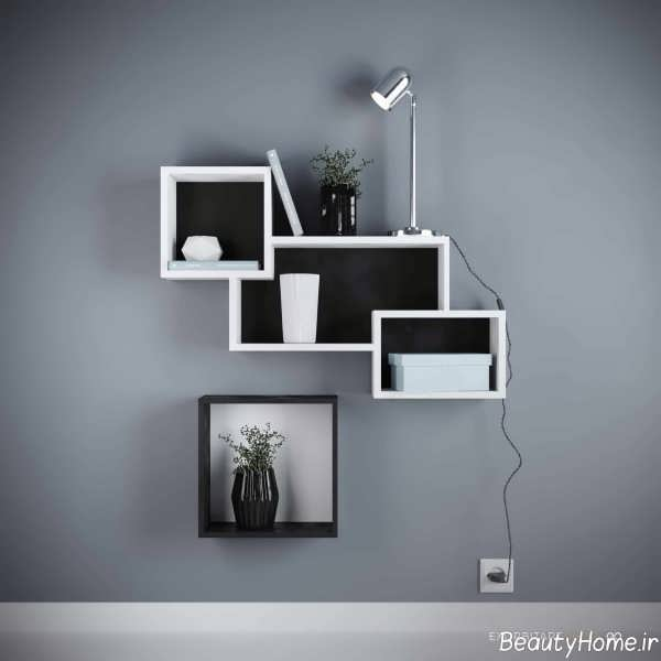 باکس دیواری سفید و سیاه