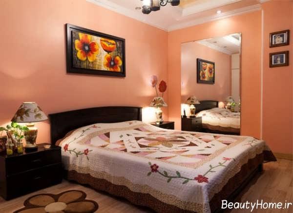 اتاق خواب گلبهی و شیک
