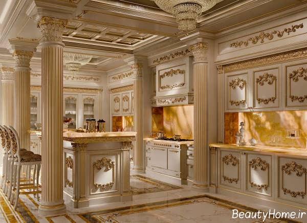 آشپزخانه کلاسیک و لوکس