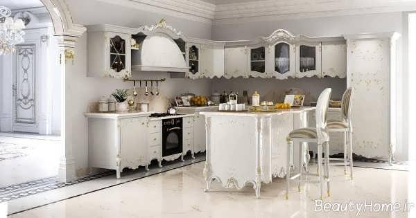 دکوراسیون سفید آشپزحانه