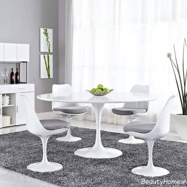 میز ناهار خوری سفید