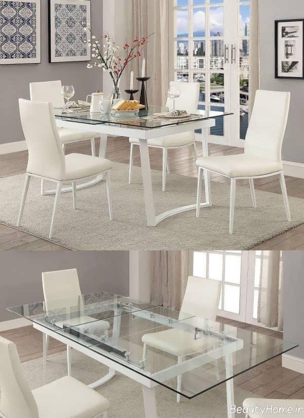مدل میز غذا خوری سفید