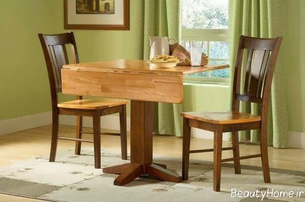 میز ناهارخوری چوبی و شیک