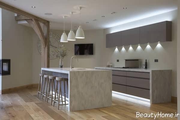 طراحی نورپردازی آشپزخانه