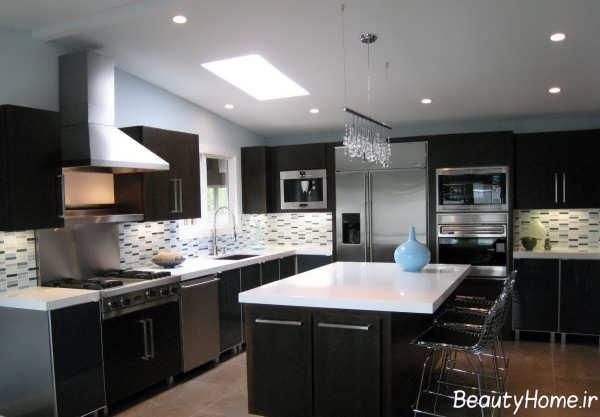 نورپردازی سقف آشپزخانه