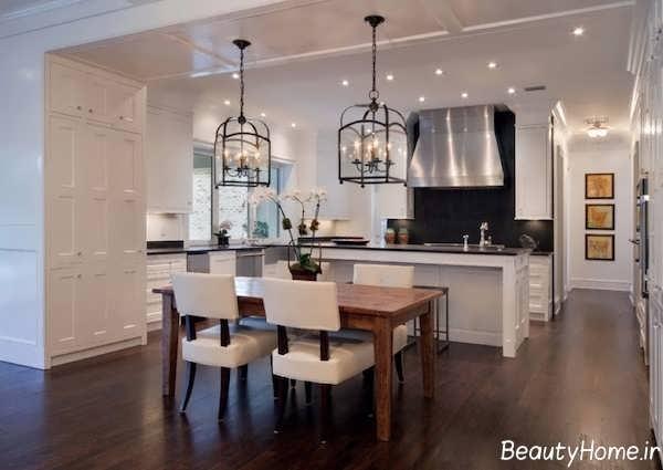 نورپردازی مدرن و شیک آشپزخانه