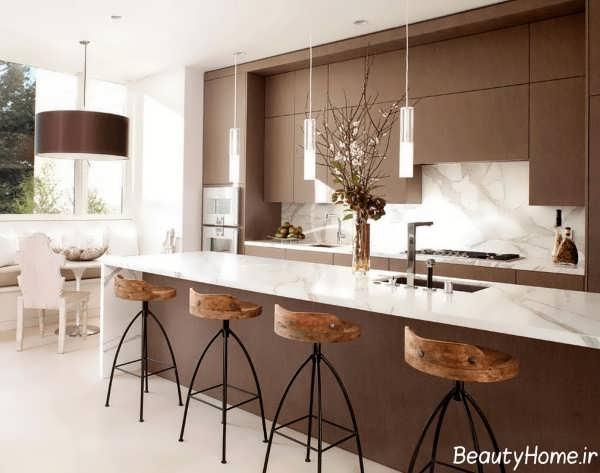 نورپردازی آشپزخانه مدرن و شیک