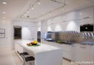نورپردازی آشپزخانه سفید
