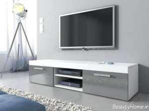 مدل میز تلویزیون دو رنگ